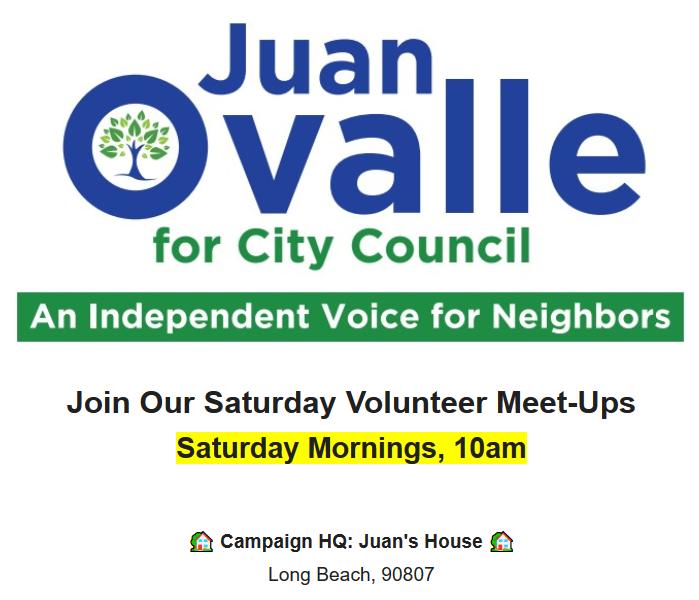 Juan Ovalle Saturday Volunteer Meet-Ups