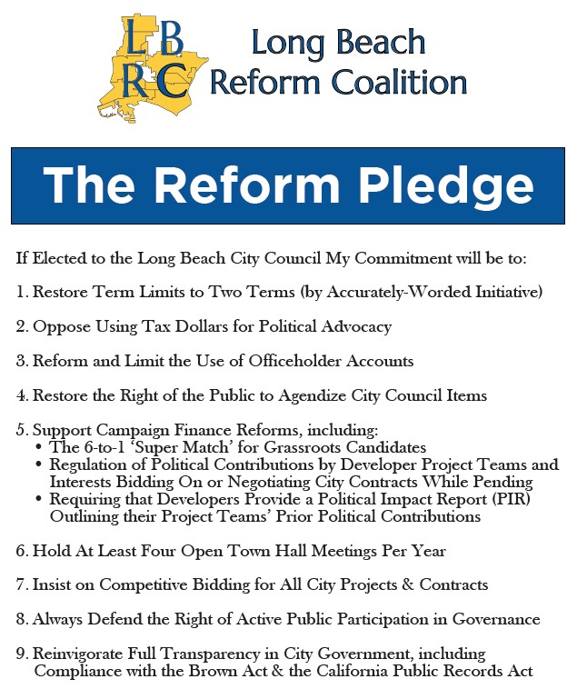 The Long Beach Reform Pledge